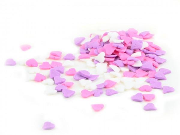 Streudekor Herzen pink- weiß 60g
