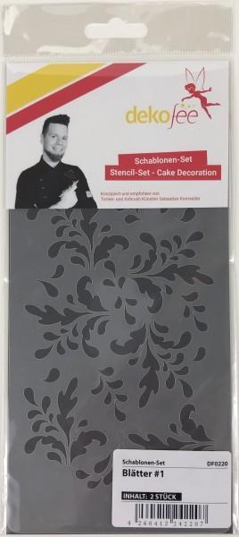 Schablonen Set Blätter #1