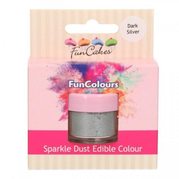 FunCakes Edible FunColours Sparkle Dust - Dark Silver