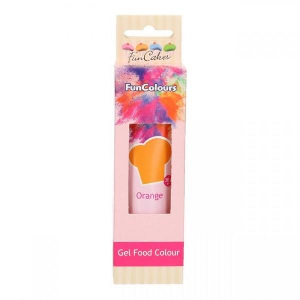 FunCakes Edible FunColours Gel - Orange 30g_1