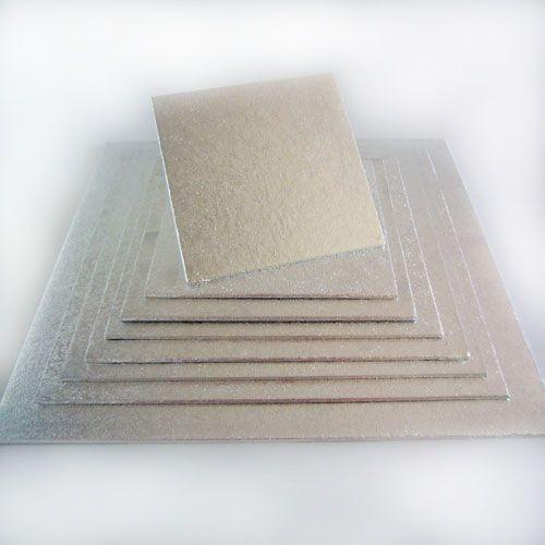 Kuchenplatte 4mm Quadratisch 22,5 x 22,5 cm