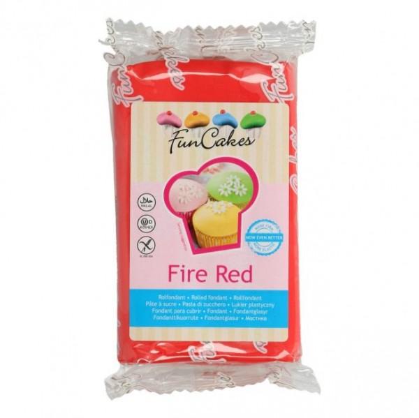 FunCakes Rollfondant Fire Red 250gr