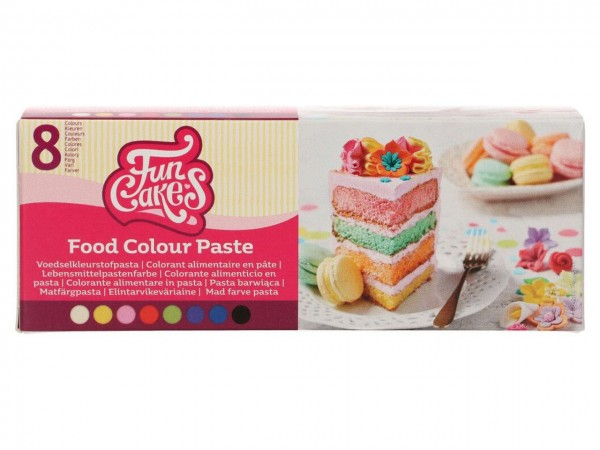 Lebensmittelfarbe Pasten Set FunColours - Set 8tlg.