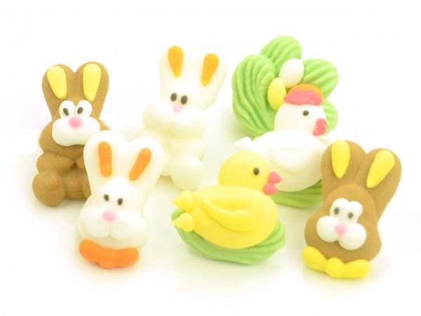 Zuckerdekor Figuren Ostern 7 Stk