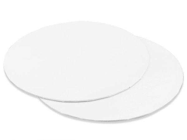 Cake Card Weiß Rund 25 cm, 3 Stück