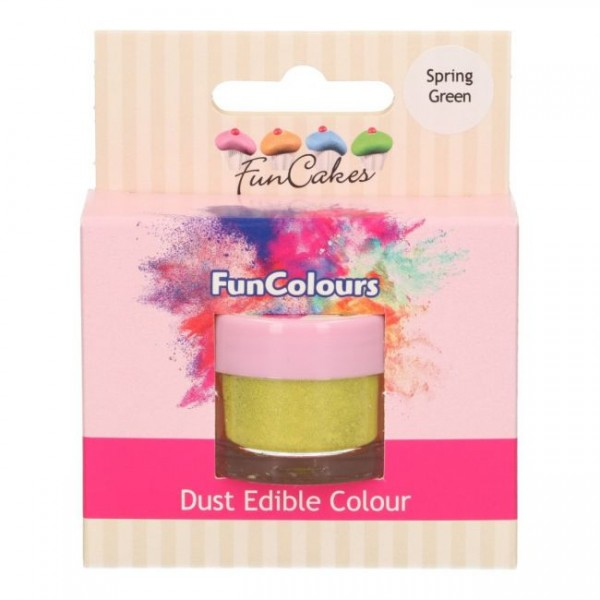 FunCakes Edible FunColours Dust - Spring Green