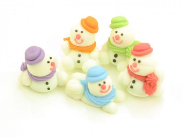 Zuckerdekor Schneemänner 5 Stück