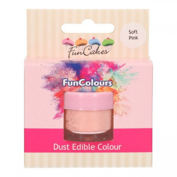 FunCakes Edible FunColours Dust - Soft Pink