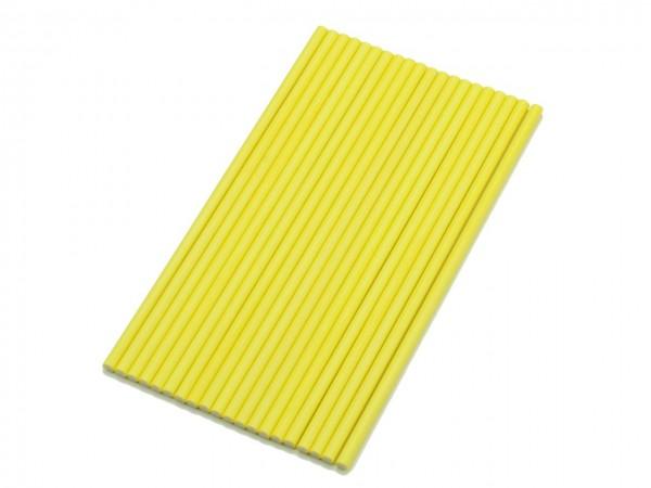 Cake Pop Sticks 15cm (Papier, 20 Stück) gelb